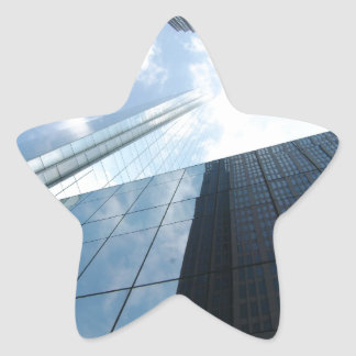 Reflecting Skyscrapers Star Sticker
