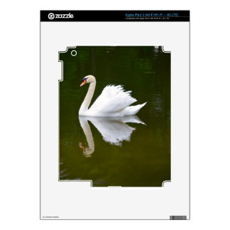 Reflecting Swan Decals For iPad 3