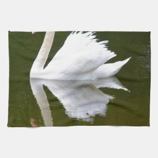 Reflecting Swan Hand Towel
