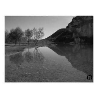 Reflecting Water a Bluff print