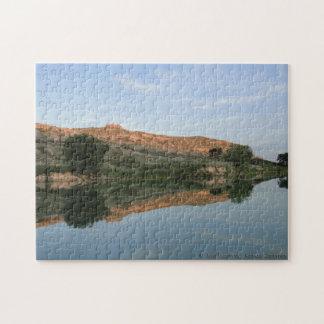REFLECTION at Lake Scott State Park Jigsaw Puzzle