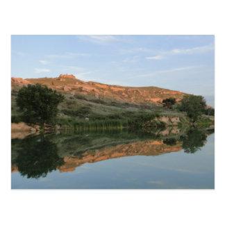 REFLECTION at Lake Scott State Park Kansas Postcard