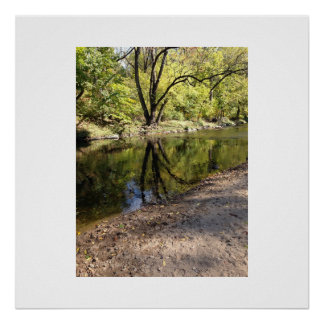 Reflection at Pennypack Creek Philadelphia, PA Poster