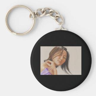 Reflection Basic Round Button Keychain