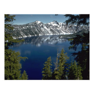 "Reflection, Crater Lake, Oregon, U.S.A. 8.5"" X 11"" Flyer"