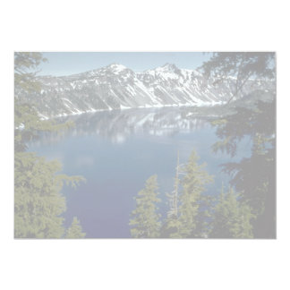 "Reflection, Crater Lake, Oregon, U.S.A. 5"" X 7"" Invitation Card"
