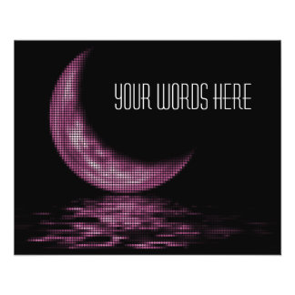 """Reflection Crescent Moon On Lake Pink 4.5"""" X 5.6"""" Flyer"""
