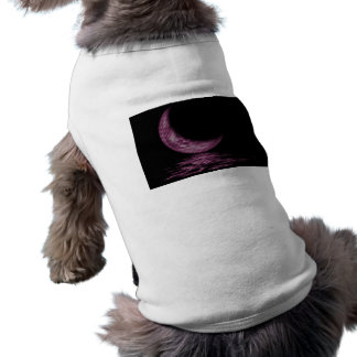 Reflection Crescent Moon On Lake Pink Dog Clothes