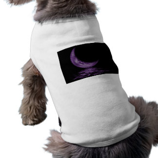 Reflection Crescent Moon On Lake Purple Dog Clothing