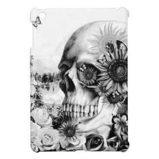 Reflection. Floral landscape skull. Case For The iPad Mini