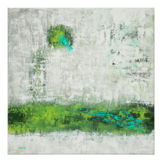 Reflection - Green Abstract Art Poster