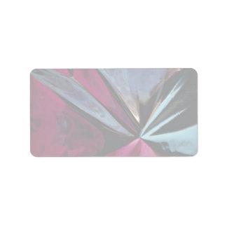Reflection in aluminum foil label