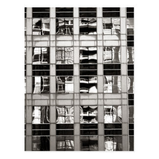Reflection in B & W Postcard