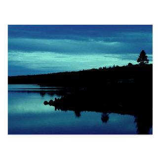 Reflection in Blues Postcard