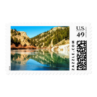 Reflection in Elevenmile Canyon Postage