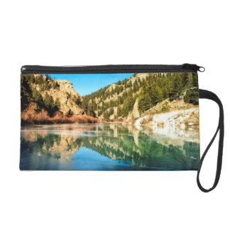 Reflection in Elevenmile Canyon Wristlet Purse