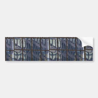Reflection in glass curtain wall bumper stickers