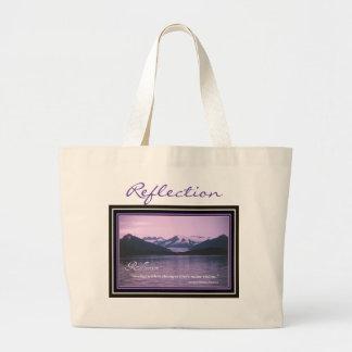 Reflection Inspiration Large Tote Bag