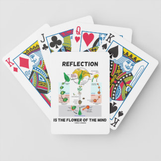 Reflection Is The Flower Of The Mind (Angiosperm) Bicycle Playing Cards
