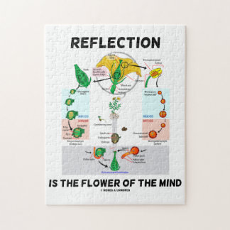 Reflection Is The Flower Of The Mind (Angiosperm) Jigsaw Puzzle