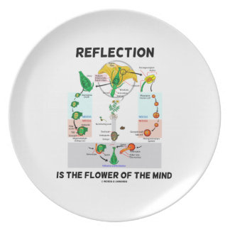 Reflection Is The Flower Of The Mind (Angiosperm) Melamine Plate