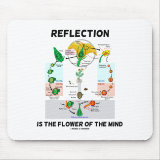 Reflection Is The Flower Of The Mind (Angiosperm) Mouse Pad