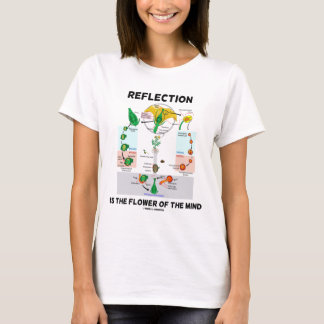 Reflection Is The Flower Of The Mind (Angiosperm) T-Shirt