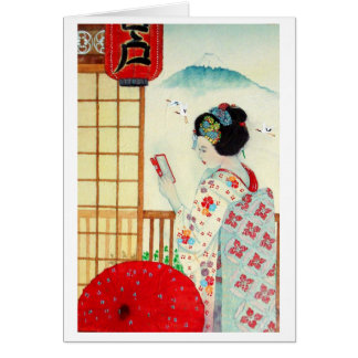 REFLECTION, JAPANESE GEISHA CARD