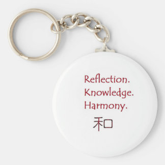 Reflection. Knowledge. Harmony. Keychain