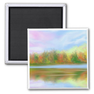 Reflection Lake 2 Inch Square Magnet