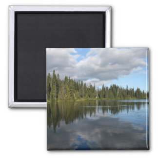 Reflection Lake at Mount Rainier 2 Inch Square Magnet