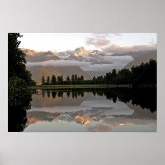 Reflection Lake Matheson Poster
