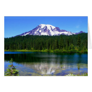Reflection Lake, Mount Rainier, WA, USA Card