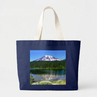 Reflection Lake, Mount Rainier, WA, USA Jumbo Tote Bag