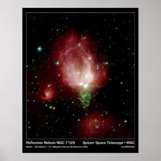 Reflection Nebula NGC 7129 – NASA Poster
