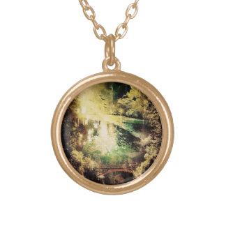 reflection round pendant necklace