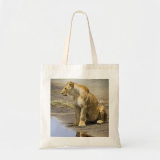 Reflection of a Lioness Tote