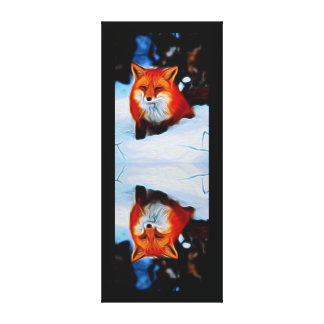 Reflection of a Red Fox Canvas Print