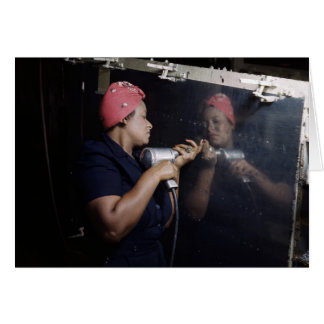 Reflection of a Riveter Greeting Card