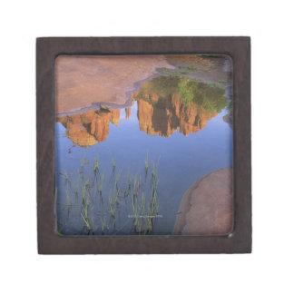 Reflection of Cathedral Rock , Sedona , Arizona Gift Box
