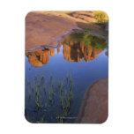 Reflection of Cathedral Rock , Sedona , Arizona Vinyl Magnets