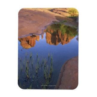 Reflection of Cathedral Rock , Sedona , Arizona Rectangular Photo Magnet