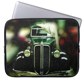 Reflection Of Collectible Classic Cars Computer Sleeve