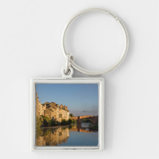 Reflection of Espalion Silver-Colored Square Keychain