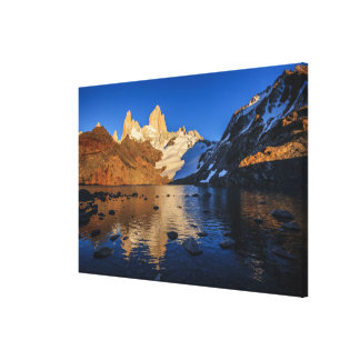 Reflection Of Fitz Roy At Sunrise Canvas Print