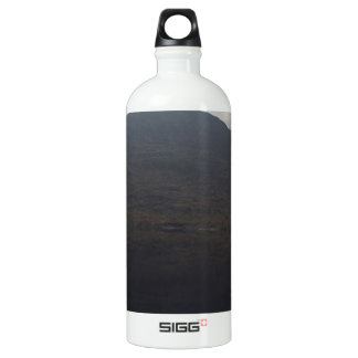 Reflection of hill in a Loch in Scottish Highlands Water Bottle