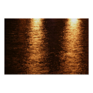 Reflection of light on the water poster