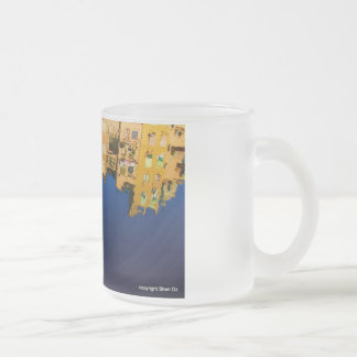 Reflection of Sant Feliu Cathedral, Girona 10 Oz Frosted Glass Coffee Mug