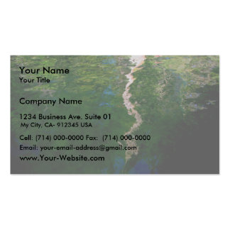 Reflection Of The Green Trees In The Pound Double-Sided Standard Business Cards (Pack Of 100)