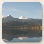 Reflection of the Volcano Villarica Drink Coasters